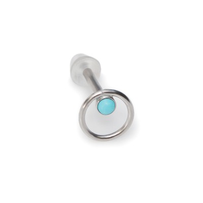 2mm Turquoise Nose Stud Surgical Steel
