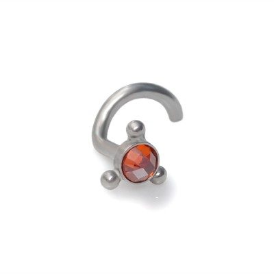 3mm Red CZ Nose Stud Surgical Steel