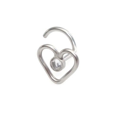 Surgical Steel Nose Stud with 2mm White CZ