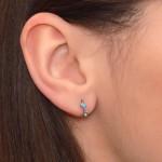 Nose Ring Hoop with Opal gemstones - Surgical Steel (SKU: PN0070SSH)
