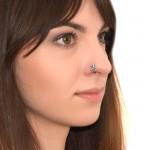 Nose Ring Hoop with Opal gemstones - Surgical Steel (SKU: PN0080SSH)