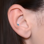 Tragus Barbells with a ball and gemstone - Surgical Steel (SKU: PN1147SSH)