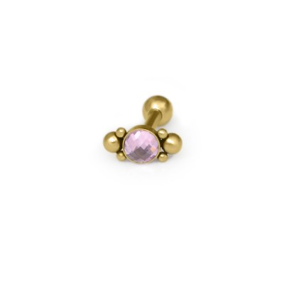 Helix Barbells with a ball and CZ gemstone - Surgical Steel (SKU: PN1173SSH)
