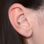 Tragus Barbells with a ball and Opal gemstone - Surgical Steel (SKU: PN1238SSH)