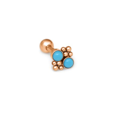 Helix Barbells with a ball and Turquoise gemstone - Surgical Steel (SKU: PN1247SSH)