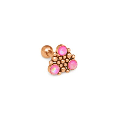 Helix Barbells with a ball and Opal gemstone - Surgical Steel (SKU: PN1254SSH)