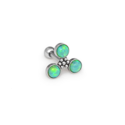 Helix Barbells with a ball and Opal gemstone - Surgical Steel (SKU: PN1287SSH)