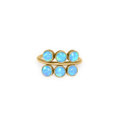 Tragus Clicker Ring with Opal gemstone - Surgical Steel (SKU: PN0134SSH)