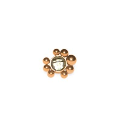 Dermal Top with CZ gemstone - Surgical Steel (SKU: PN1538SSH)