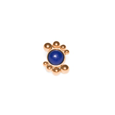 Dermal Top with Lapis Lazuli gemstone - Surgical Steel (SKU: PN1541SSH)