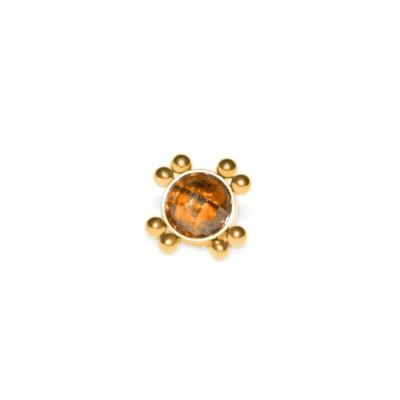 Dermal Top with CZ gemstone - Surgical Steel (SKU: PN1544SSH)