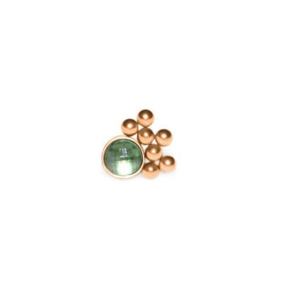 Dermal Top with CZ gemstone - Surgical Steel (SKU: PN1548SSH)