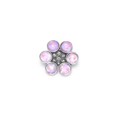 Dermal Top with Opal gemstone - Surgical Steel (SKU: PN1549SSH)