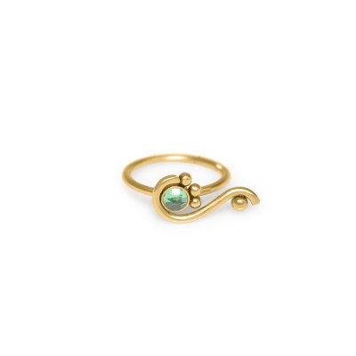 Tragus Clicker Ring with CZ gemstone - Surgical Steel (SKU: PN0158SSH)