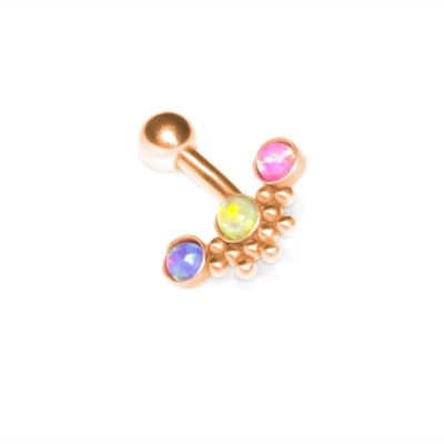 Eyebrow Piercing Jewelry Surgical Steel - Rook curved barbell, cartilage barbell earring