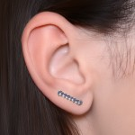 Ear Climber Earring with CZ gemstones - Surgical Steel (SKU: PN2564SSH)