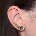 Ear Climber Earring with CZ gemstones - Surgical Steel (SKU: PN2574SSH)