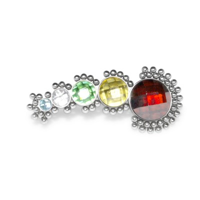 Ear Climber Earring with gemstones - Surgical Steel (SKU: PN2575SSH)