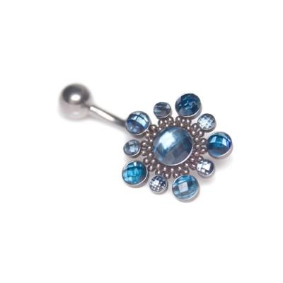 Belly Piercing - Surgical steel belly earring, piercing jewelry CZ