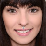 Lip Labret Jewelry with Opal gemstones - Surgical Steel (SKU: PN3313-2SSH)