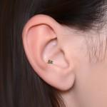 Conch Labret Stud with CZs gemstones - Internally Threaded - Surgical Steel (SKU: PN3381-1SSH)