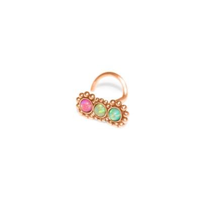 Nose Stud with Opal gemstones - Surgical Steel (SKU: PN0792SSH)