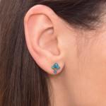Nose Stud with Opal gemstones - Surgical Steel (SKU: PN0932SSH)
