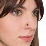 CZ Nose Ring Stud - surgical steel nose piercing stud 20g