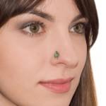 Nose Stud with CZ gemstones - Surgical Steel (SKU: PN0956SSH)