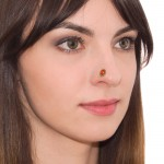 CZ Nose Stud Earring - nose ring surgical steel, nose jewelry