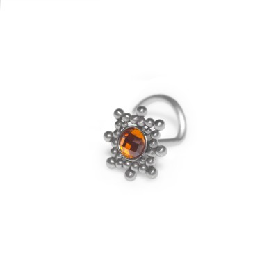 CZ Nose Stud - surgical steel nose ring 18g, nose earring