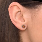 Nose Stud with CZ gemstone - Surgical Steel (SKU: PN0972SSH)