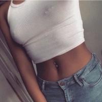 Belly piercing and Nipple piercing
