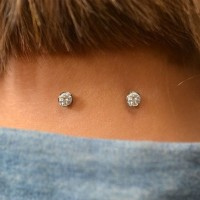 Dermal tops on the back of the neck
