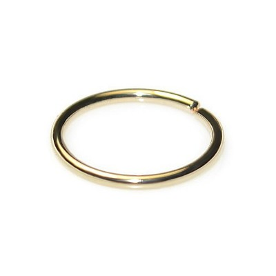 Nose Ring Hoop - Sterling Silver either or Rose Gold or Gold (SKU: PN0002P)