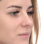 Septum Ring - Septum Hoop Earring - Sterling Silver either or Rose Gold filled or Gold filled (SKU: PN0006P)