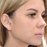 Cartilage Ring with Sapphire gemstone - Sterling Silver either or Rose Gold filled or Gold filled (SKU: PN0021P)