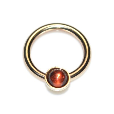 Septum Ring with Garnet 3mm gemstone - Sterling Silver either or Rose Gold filled or Gold filled (SKU: PN0028P)