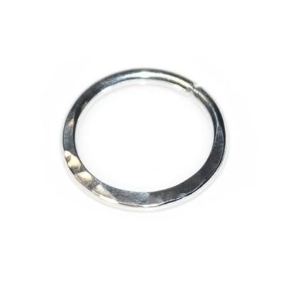 Septum Ring - Hammered Septum Hoop Earring - Sterling Silver either or Rose Gold filled or Gold filled (SKU: PN0062P)