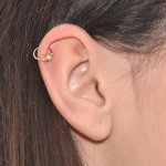 Stardust Tragus Ring - Sterling Silver either or Rose Gold filled or Gold filled (SKU: PN0068P)