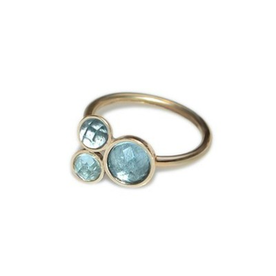 Nose Ring Hoop with CZ gemstones - Sterling Silver either or Rose Gold or Gold (SKU: PN0219P)