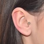 Nose Stud with Opal 2mm gemstone - Sterling Silver or Gold filled (SKU: PN0250P)