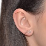 Infinity Helix Stud Earring - Sterling Silver either or Gold filled or Rose Gold filled - PN0275P