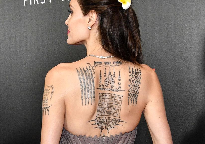 Tattoo at Angelina Jolie