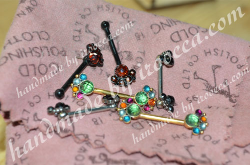 High-quality handmade Nipple Barbells from IROOCCA for Nipple Piercing