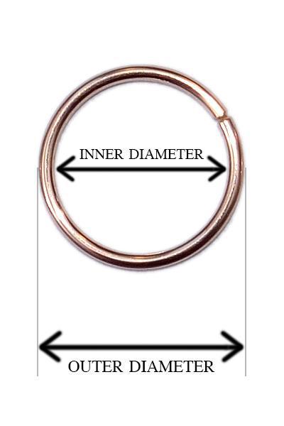 measuring nose rings by inner diameter