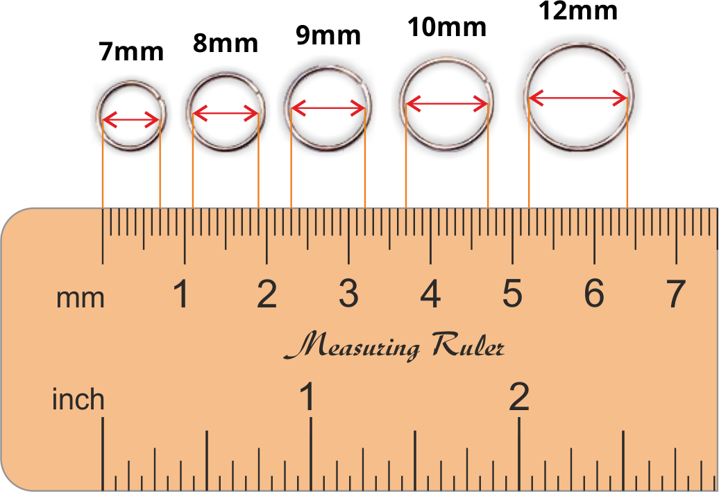 Hoop Earring Size Chart Inches - Best All Earring Photos Kamilmaciol Com